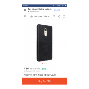 new product 934d9 f5615 OfferTag: Redmi note 4 Back cover | 100% Off | Accessories Loot Deal