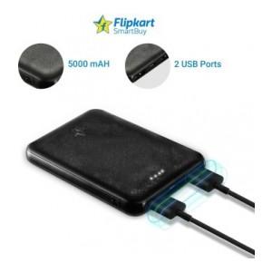 Flipkart SmartBuy 5000 mAh Power Bank (XS05LPB Poly)(Black, Lithium Polymer)