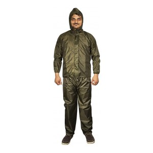 Autofy RainyTime-RC210 Micro Polyester Complete Rain Suit with Carry Bag (Green, Large)