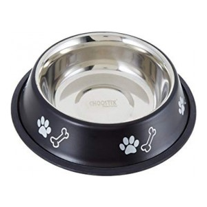 Choostix 710ml Dog and Cat Feeding Steel Bowl, Medium