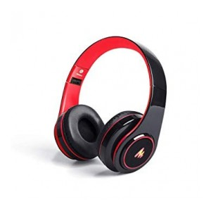 (Renewed) Maono AU-D422L Over-Ear Bluetooth Wireless Headphones with Built in Mic (Red and Black)