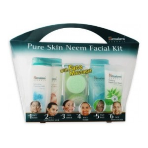 Himalaya Pure Skin Neem Facial Kit with Face Massager(7 Items in the set)