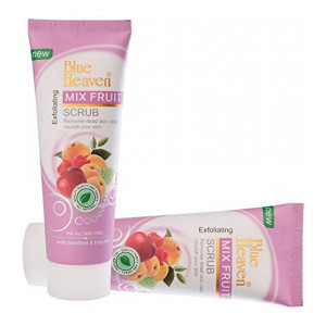 PragatiOnn - Blue Heaven Mix Fruit Scrub Cream For Face Care 75 ml (Pack Of 2)