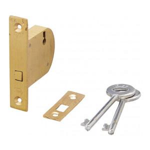 Harrison H-0523_PK2 45mm Brass Three Lever HT Sliding Lock Set (Silver,Pack of 2)