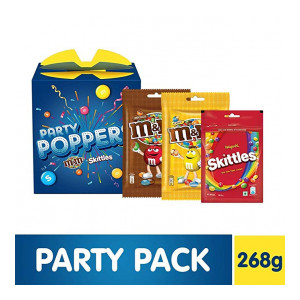 Party Poppers Assorted Chocolates and Candy Gift Pack (M