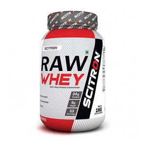 Scitron Raw Whey (100% Whey Protein Concentrate,24g Protein, 0g Sugar, 33 Servings,9 Essential Amino Acids, No Flavours