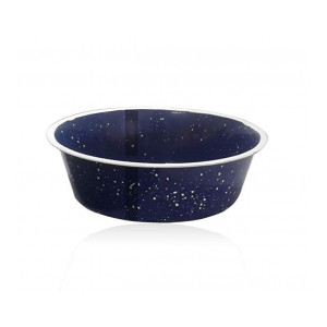 Profusion Pet Dog Cat Bowl with Sparkle for Drinking and Eating(Dark Blue, Medium, Set of 2, Capacity-800 ML)