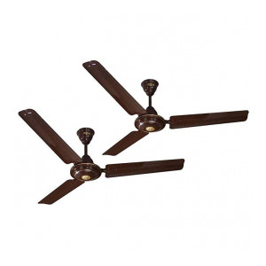 ACTIVA 1200 MM HIGH Speed BEE Approved 5 Star Rated APSRA Ceiling Fan (Brown)-2 Year Warranty Pack of 2