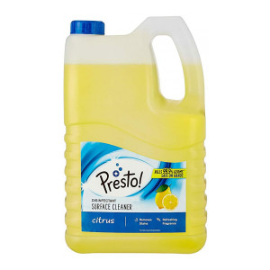 Amazon Brand - Presto! Disinfectant Surface Cleaner - 5 L (Citrus)