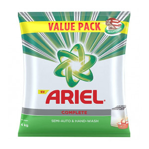Ariel Complete Detergent Washing Powder - 4Kg Value Pack Pantry