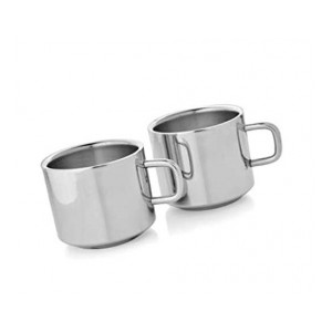 Dynore Set of 2 Double Wall Tea Cups