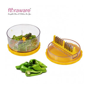 Floraware Garlic Onion Cutter Crusher Peeler (Yellow)