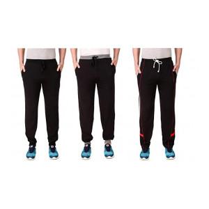Cynak Men's Slim Fit Regular Track Pants (Pack of 3)