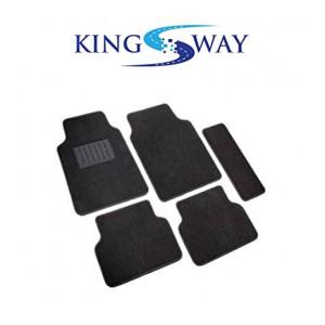 Kingsway Black Carpet Mats for Tata Safari Storme (Set of 5)