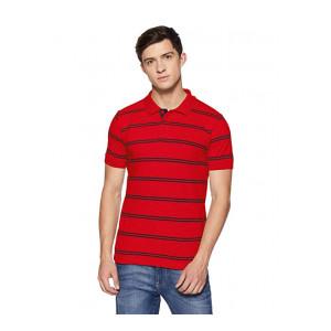 Hanes Men's Striped Regular Fit Polo