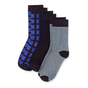 Amazon Brand - Symbol Men's Calf Socks (Pack of 3)