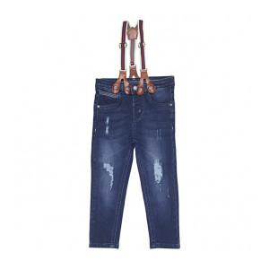 Tales & Stories Boys Blue Solid Slim Fit Jeans [T201710-3-4-B]