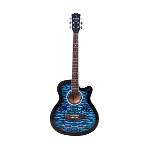 ARCTIC Vigor Acoustic Guitar package with 40 inches Folk steel string Guitar Curved shape with Bag, Capo & Picks (Blue)
