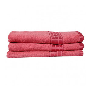 Eurospa Set of 3 Cotton Bath Towel Pink