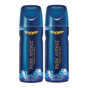 Park Avenue ORIGINAL DEO COOL BLUE 100GM (PACK OF 2) Body Spray - For Men & Women(300 ml, Pack of 2)