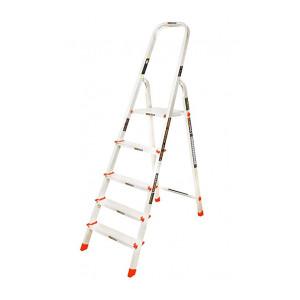 Eurostar 105 Aluminium 4 Step with Platform Ladder (Silver)