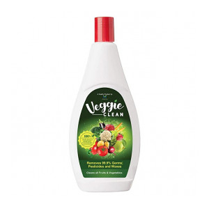 Veggie Clean 200 ml,100% Safe, Scientific & Natural Vegetable & Fruit Wash Liquid | Removes 99.9% Germs, Pesticides & Waxes | No harmful Preservatives, Sulphates, Soap or Alcohol