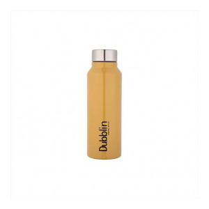 DUBBLIN Bingo Stainless Steel Water Bottle, BPA Free, Non Slip Fridge Water Bottle (Brown 800ML) (Apply coupon)