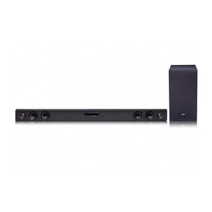 LG SJ3 2.1Ch 300W Sound Bar with Wireless Subwoofer (Adaptive Sound Control, Black)
