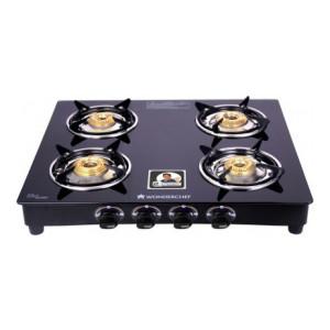 *Pre Book*  WONDERCHEF Ruby Black Cooktop Glass Manual Gas Stove(4 Burners)