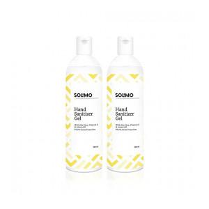 Amazon Brand - Solimo Hand Sanitizer Gel - 200 ml (Pack of 2, Lemon Oil)