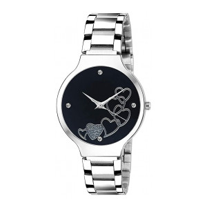 ON TIME OCTUS Analogue Women's Watch (Multicolour Dial Silver Colored Strap)