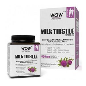 WOW Milk Thistle 600mg - 60 Vegetarian Capsules