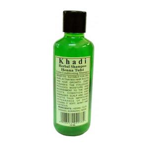 Khadi Natural Herbal Henna & Tulsi Shampoo 210ml, Green
