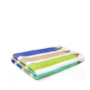 Liklee Unisex Pencil Print Pure Cotton White Bath Towel
