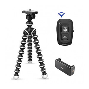 Tygot Gorilla Tripod/Mini (13 Inch) Tripod for Mobile Phone with Phone Mount & Remote   Flexible Gorilla Stand for DSLR & Action Cameras