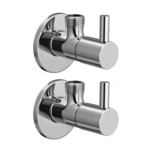Drizzle Flora Angle Cock/Angle Valve Stop Cock Brass - Set of 2