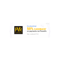 Book Movie tickets at PVR Cinemas & get 50% cashback upto Rs. 125 on payment with PhonePe