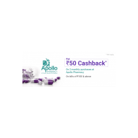 Flat 50 cashback on 2 monthly purchase at Apollo Pharmacy using PhonePe