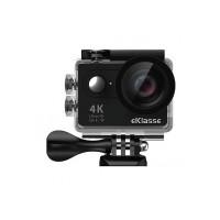 "eKlasse EKAC02EG Action Camera 4K Ultra HD, 2"" Full HD Display, Wi-Fi (Black)"