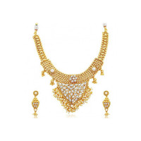 Sukkhi Jewellery Set for Women (Golden) (2327NGDLPV3250)