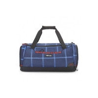 The Vertical Chequered Polyester 53 cms Navy Travel Duffle (8903496091298)