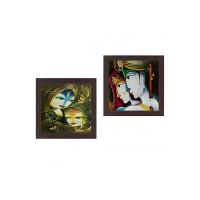 Wens 'Radha Krishan Face' Wall Hanging Painting (MDF, 35 cm x 71 cm x 2.5 cm)