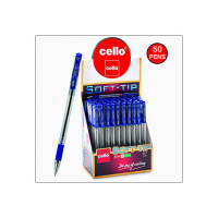Cello Pens Export Pack 50 Soft-Tip Ballpen (Blue ink)