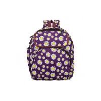 Dussle Dorf Purple Flower Polyester 14 LTR School Backpack for Kids (4 to 7 Age)
