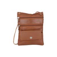 AspenLeather Leather Cross Body Bag (Tan)
