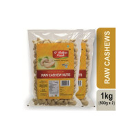 D NATURE FRESH RAW CASHEWS ,1KG (500g x 2) Cashews(2 x 500 g)