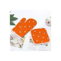 LooMantha Orange Cotton Kitchen Linen Set  (Pack of 2)