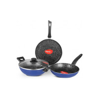 Pigeon Essentials Induction Bottom Cookware Set  (Aluminium, 4 - Piece)