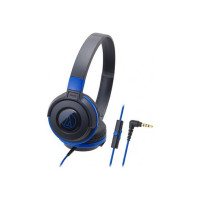 Audio Technica ATH-S100iS BBL Wired Headset(Black Blue, Wired over the head)