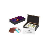Choco ManualART - Exclusive Corporate Diwali Gifts with Print on Your Products Photo Image Logo Company/Brand Name Message Greeting Paper | 6pcs Chocolate's Box for Employees Business Customers